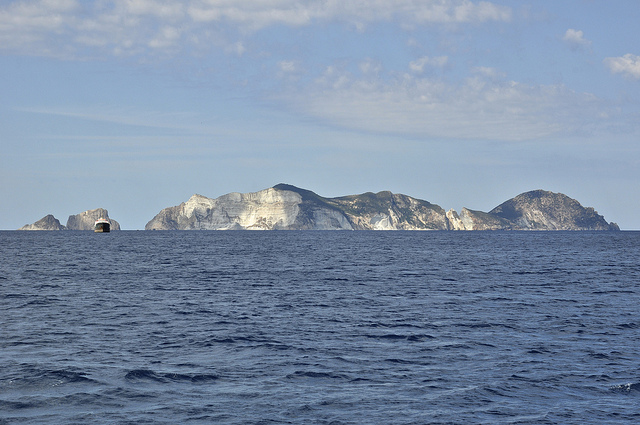Ponza Island view from Palmarola