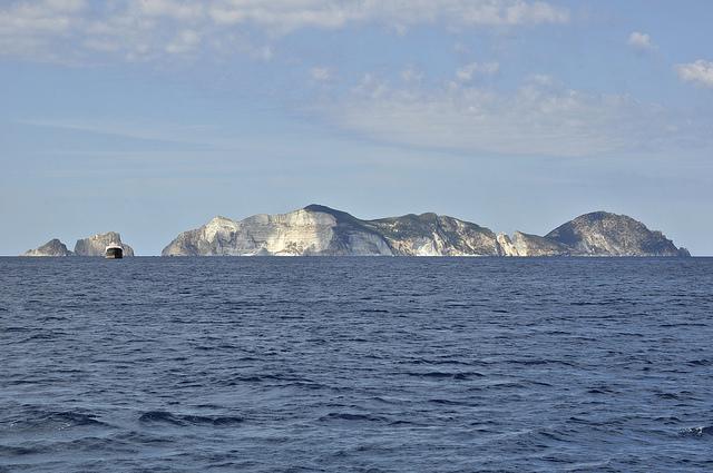 Ponza Island view from Palmarola