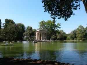 Villa Borghese's lake